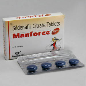 MANFORCE 100MG TABLET 4'S