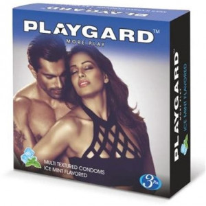 Playgard More Play Condom Ice Mint Pack of 3*4
