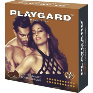 Playgard Dotted Condom Coffee Pack of 3*4