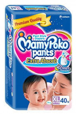 MAMYPOKO EXTRA ABSORB DIAPER PANTS (XL) 40'S